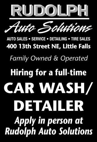Hiring for a Full-Time Car Wash/Detailer