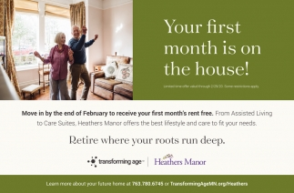 Your First Month is on the House!