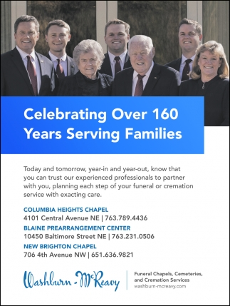 Celebrating Over 160 Years Serving Families