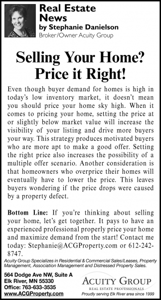 Selling Your Home? Price it Right!