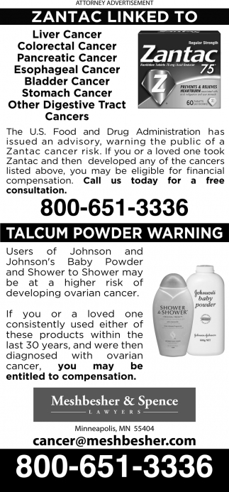 Talcum Powder Warning