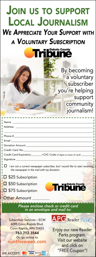 Join Us to Support Local Journalism