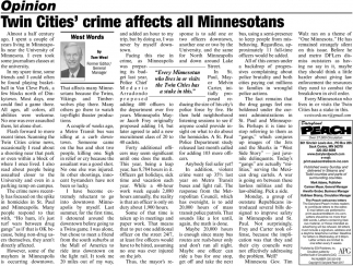 Twin Cities' Crime Affects All Minnesotans