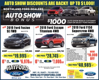 Auto Show Discounts are Back!