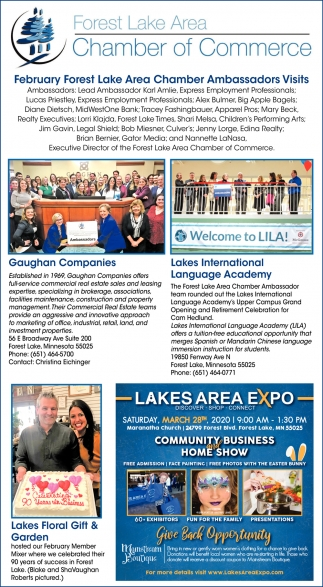 Forest Lake Area Chamber Ambassador Visits