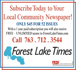 Subscribe Today to Your Local Community Newspaper!