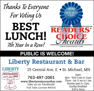 Thanks to Everyone for Voting Us Best Lunch!