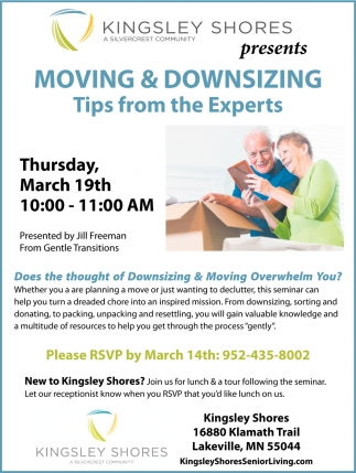 Moving & Downsizing Tips from the Experts