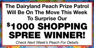 $1000 Shopping Spree Winner!