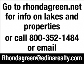 Go to Rhondagreen.net for Info On Lakes and Properties