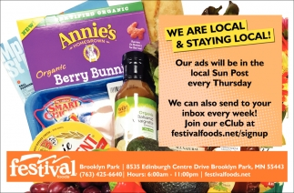 We are Local & Staying Local!