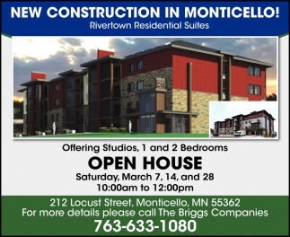 New Construction in Monticello!