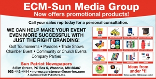 ECM-Sun Media Group Now Offers Promotional Product