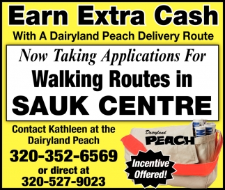 Earn Extra Cash with a Dairyland Peach Delivery Route