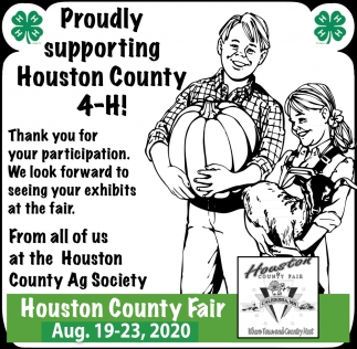 Proudly Supporting Houston County 4-H!