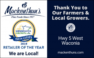 Thank You to Our Farmers & Local Growers