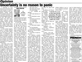 Uncertainty is No Reason to Panic
