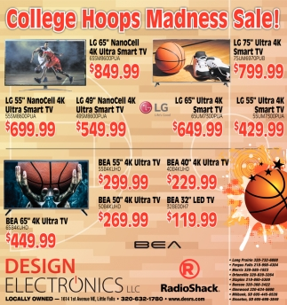 College Hoops Madness Sale!