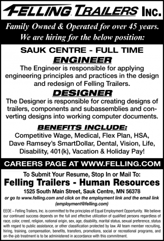 We Are Hiring for the Below Position