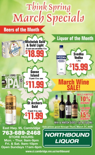 Think Spring March Specials