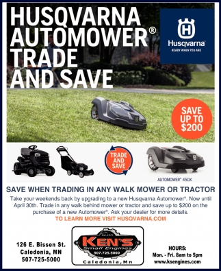 Husqvarna Automower Trade & Save