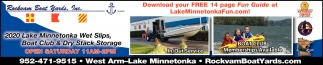 2020 Lake Minnetonka WEt Slips, Boat Club & Dry Stack Storage