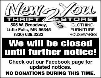 We Will be Closed Until Further Notice!
