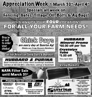 Visit Any of Our Four Locations for All Your Farm Needs!
