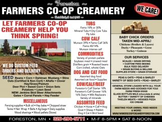 Let Farmers Co-op Creamery Help You Think Spring!