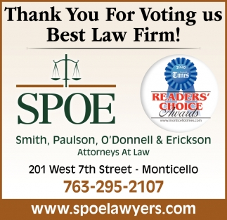 Thank You for Voting Us Best Law Firm!