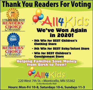Thank You Readers for Voting