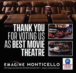thank You for Voting Us as Best Movie Theatre