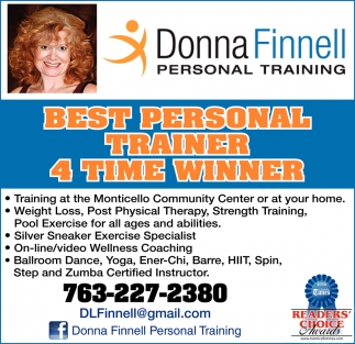 Best Personal Trainer 4 Time Winner