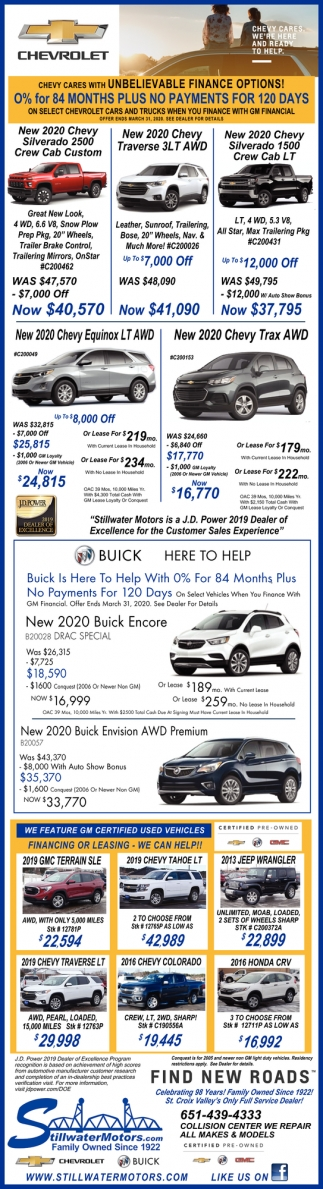 Chevy Cares with Unbelievable Finance Options!