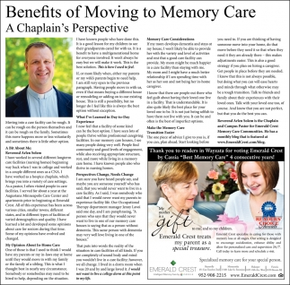 Benefits of Moving to Memory Care