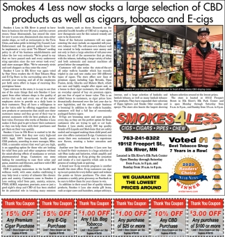 Smokes 4 Less Now Stocks a Large Selection of CBD Products as Well as Cigars, Tobacco and E-Cigs
