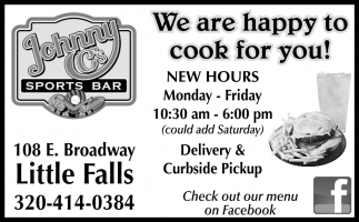 We are Happy to Cook for You!