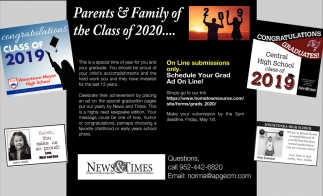 Parents & Family of the Class of 2020...