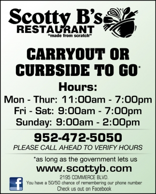 Carryout or Curbside to Go