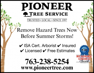 Remove Hazard Trees Now Before Summer Storms!