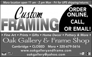 Custom Framing