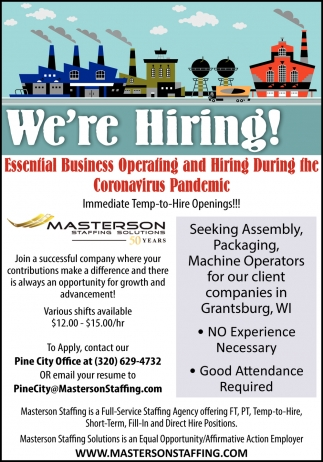 Immediate Temp-to-Hire Openings!