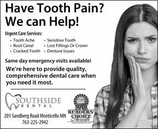 Have Tooth Pain? We Can Help!