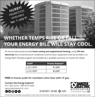 Whether Temps Rise or Fall, Your Energy Bill Will Stay Cool