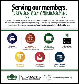 Serving Our Members. Serving Our Community