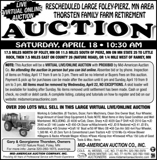 Live Virtual Online Auction