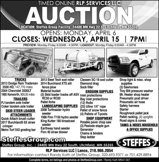 Timed Online RLP Services LLC Auction