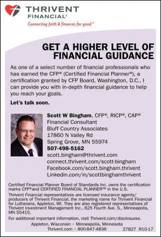 Get a Higher Level of Financial Guidance