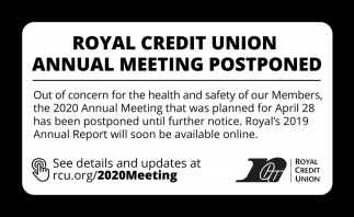 Annual Meeting Postponed