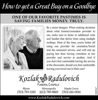 How to Get a Great Buy On a Goodbye